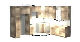what is standard for toe kick on kitchen cabinets simple kitchen layout