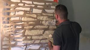mur deco pierre tutoriel enduit effet pierre