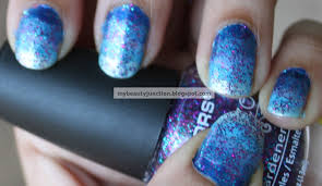 manicure ombre nail art with a compact sponge essie and china