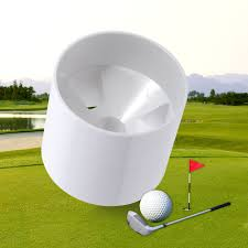 durable white backyard practice golf hole pole flag stick cup