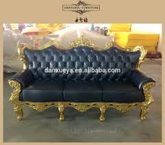 Wooden Frame Couch Dxy 836 Antique Gold Leaf Wood Frame Sofa Leather Sofa Set Buy