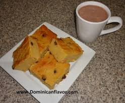 dominican style sweetened cornmeal cake arepa dominicana dulce