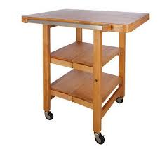 folding kitchen island cart folding island rectangular kitchen cart w butcher block style top