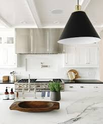 Black And White Kitchen Design Ideas 30 Jpg Pictures To by White Kitchen With Marble Counter Shop More At Www Studio Mcgee