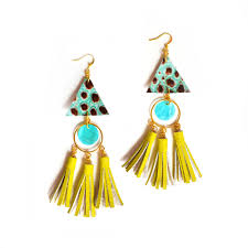 Chandelier Earrings Earrings Handmade Leather Earrings U2014 Boo And Boo Factory Handmade