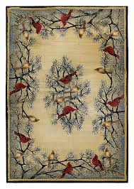 Fishing Rugs Lodge Themed Area Rugs Cardinal In Pine Cardinals Pine And