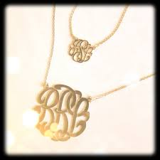 monogram necklaces gold tiny 14k gold monogram necklace