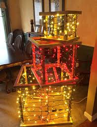 wood frame diy lighted present