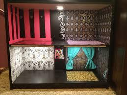 best 25 monster high house ideas on pinterest monster high monster high diy doll house with lights black bookshelf scrapbook paper as wallpaper