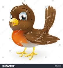 drawing cute cartoon robin bird standing stock vector 96266219