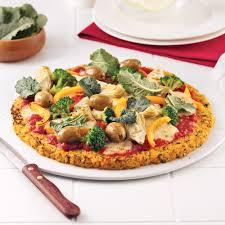 cuisiner un choux fleur pizza aux légumes avec croûte de chou fleur recettes cuisine et