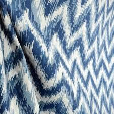 Blue Upholstery Fabric M9635 Aegean Flame Stitch Chevron Matelassse Blue Upholstery