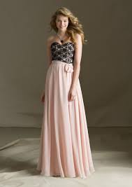 full length lace and chiffon morilee bridesmaid dress with