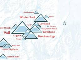 map of colorado ski resorts colorado ski resorts map poster best maps