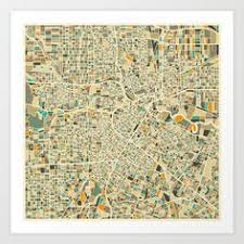 houston map buy gallery wrapped map canvas of houston simple burnt