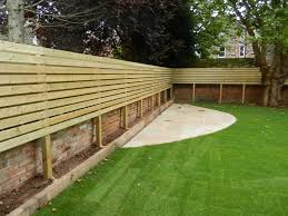 lateral fencing and low maintenance garden olive garden design