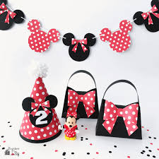 minnie mouse party supplies minnie mouse diy party supplies scrap booking