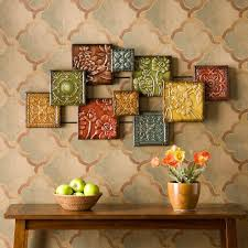 home decorators collection metal feather wood and metal wall