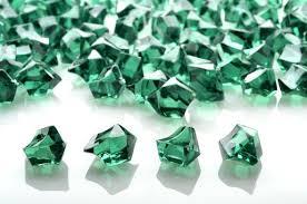 Vase Stones Emerald Green Gemstones Acrylic Crystal Wedding Table Scatter