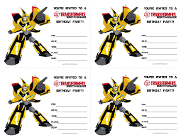 transformers birthday free transformers birthday invitations templates at