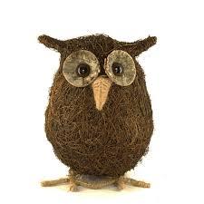 ollie owl rattan garden ornament at homebase co uk