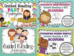 guided reading in kindergarten freebies little minds at work