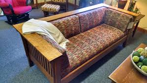 buy a hand made mission sofa amish built solid wood qswo made
