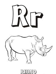 rhino free alphabet coloring pages alphabet coloring pages of