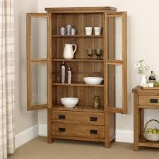 Oak Glazed Display Cabinet Rustic Oak Glazed Display Cabinet