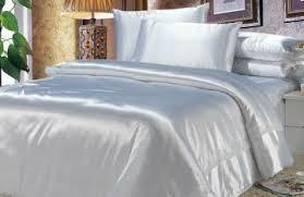 White Silk Bedding Sets Size Comforter Set In White Satin Bed Linen Gallery