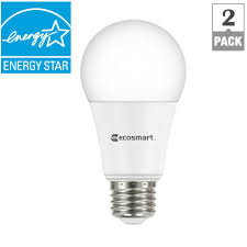 75 watt led light bulbs ecosmart 75 watt equivalent a19 dimmable led light bulb daylight 2