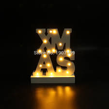 aliexpress buy white wooden letter light led marquee