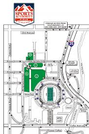 Map And Directions Park At Sports Authority Field U2014 Map And Directions Are Posted