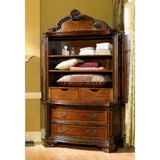 a r t furniture old world bedroom armoire pomegranate hayneedle