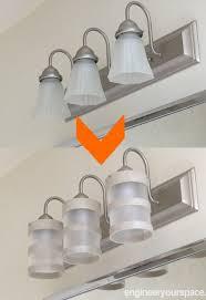 bathroom light fixture ideas diy bathroom lighting fixture makeover hometalk