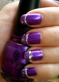 look gorgeous by trying these 14 purple acrylic nail designs