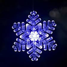 single 4 frosted starburst outdoor lighted ornament