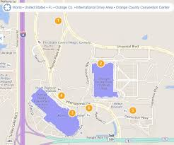orange county convention center map near orange county conv center and universal the dis disney