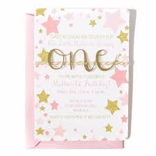 twinkle twinkle birthday birthday invitation twinkle twinkle pink and