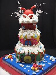 Christmas Cake Decorations Funny by 264 Best Cakes For Christmas Images On Pinterest Christmas Cakes