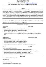 cashier job description for resume sample resume cover letter format