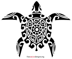 awesome black tribal sea turtle tattoo design