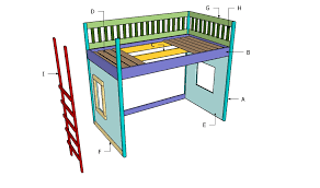 playhouse loft bed plans myoutdoorplans free woodworking plans