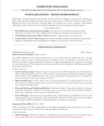 Public Relation Resume Sample Public Relations Resume Old Version Old Version Public