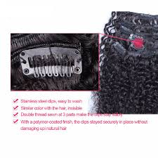 Make Clip In Hair Extensions by Aliexpress Com Buy 7a Clip In Human Hair Extensions Malaysian