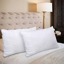 queen bed pillows homeideas bed pillows 2 pack queen size 100 cotton cover and