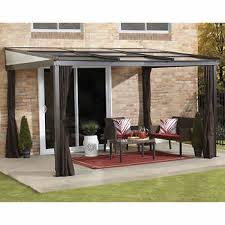 Retractable Awnings Costco Costco Wall Pergola With Retractable Roof Tiles And Enclosure