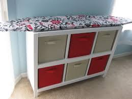 quilting ironing board table cubby shelf with hinged ironing board top i am putting this in my