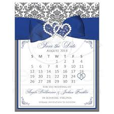 wedding save the date cards customizable gray white damask save the date card printed on