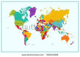world map with countries name world map country name stock vector 558431068